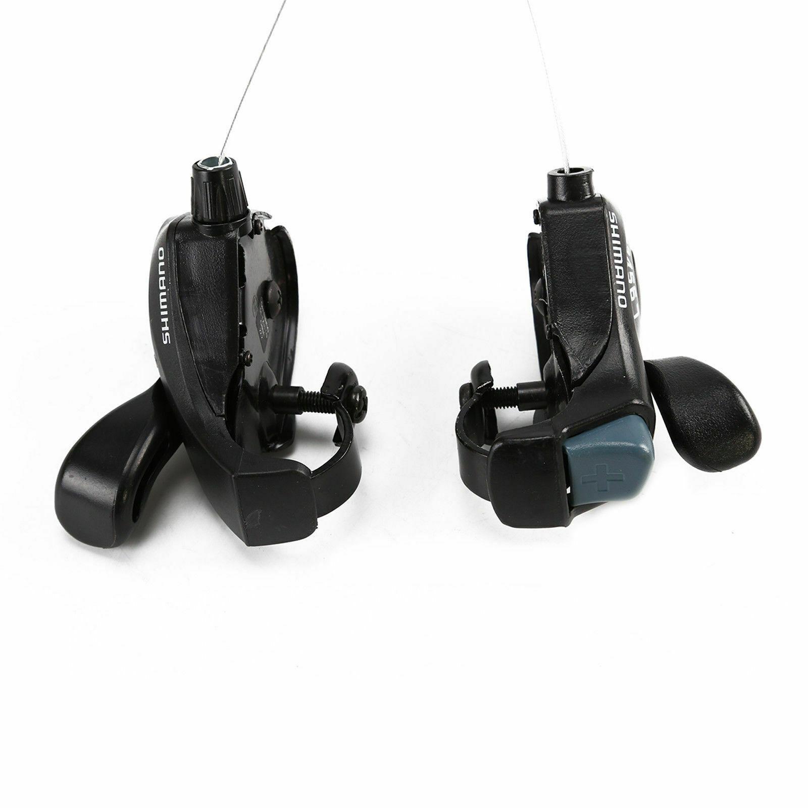 Pair SL-TX30 3//6//7//18//21 Speed MTB Mountain Bicycle Thumb Gear Shift for Shimano