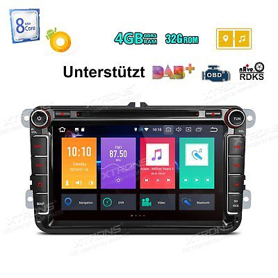 "Octa Core Android 8.0 GPS 8"" Autoradio 4GB RAM RDS Für VW Passat Golf Touran Eos"