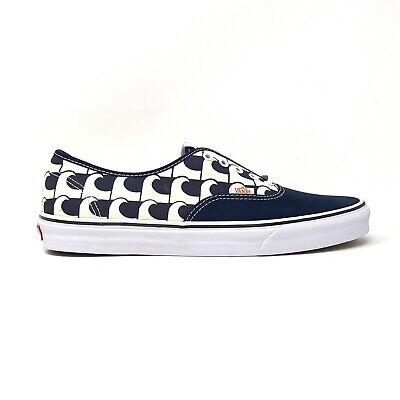 Vans Authentic US Open Navy Blue Waves Men's 13 Skate Shoes New