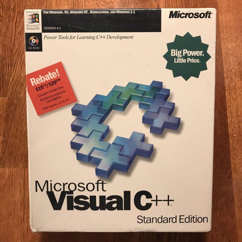 Vintage Microsoft Visual C++ Professional 4.0 Brand NEW & SEALED for Windows 95