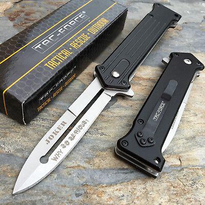 Tac Force Folding Joker  Why So Serious   Satin Blade Pocket Knife Tf 457Bs