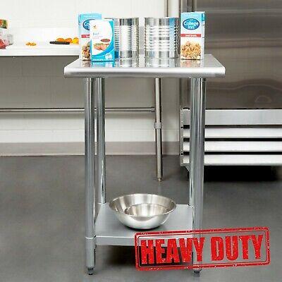 24 X 24 - Stainless Steel Kitchen Restaurant Work Prep Table With Undershelf