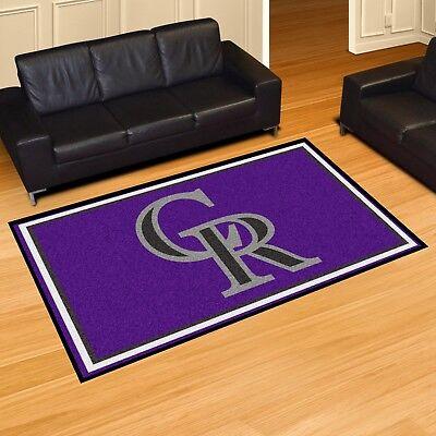 (Colorado Rockies 5' X 8' Decorative Ultra Plush Carpet Area Rug)