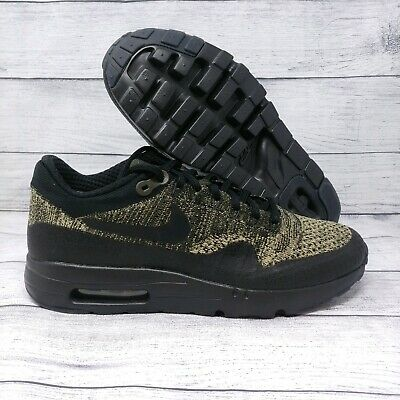 Nike Air Max 1 Ultra Flyknit Mens Running Shoes Sz 8 Olive Black (856958-203) ()