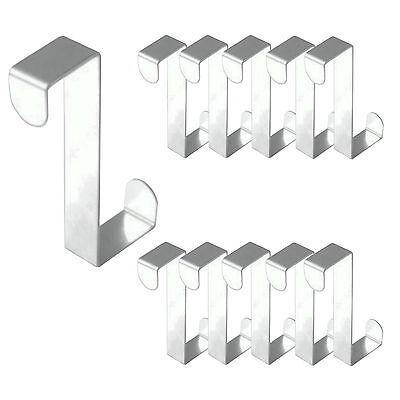 6 Stück Edelstahl Haken Türhaken Kleiderhaken Türhänger Garderobenhaken  Haken