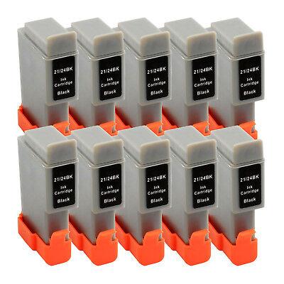 10 BLACK New BCI-24 ink for Canon i250 i350 i450 S100 S200 S300 B210C B230C B380