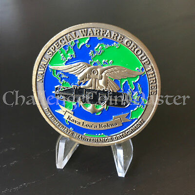 C19 Naval Special Warfare Group 3 Three Navy Challenge Coin