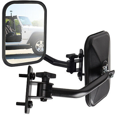 Side View Mirror Fits 97-18 Jeep Wrangler Black Driver Passenger Quick -