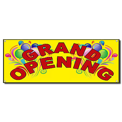 Grand Opening Baloons New Business Vinyl Banner Sign W Grommets 2 Ft X 4 Ft