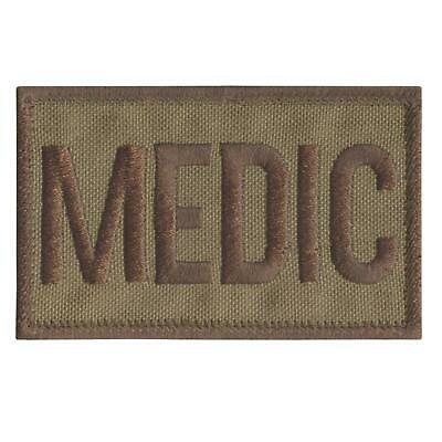 MEDIC tan coyote embroidered MEDICAL combat MED EMS touch fastener patch