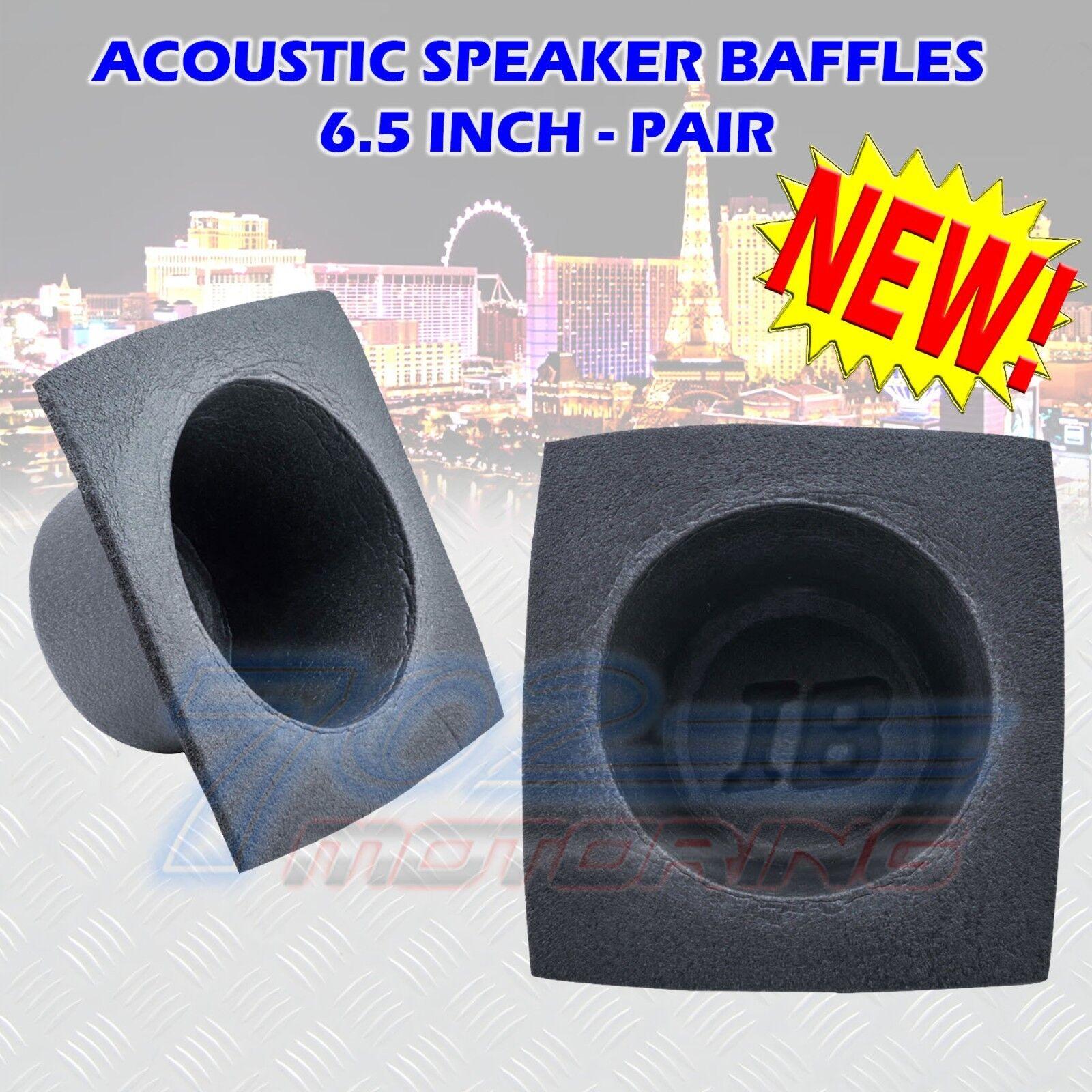 "6.5"" Acoustic Speaker Baffle Pair Baffles Bass Reflex Car A"