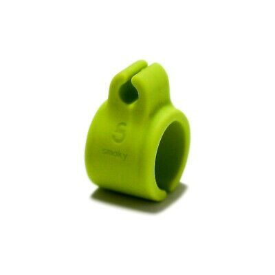 Smoked Light Green (Silicone Cigarette Ring hands-free smoking gaming texting driving - light green )