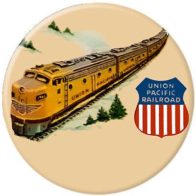 Union Pacific Railroad Snowy Mountains Fridge Magnet