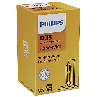 Philips Xenon Vision 42403VIC1 Replacement D3S Xenon HID Bulb