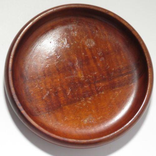 Vintage Hawaiian Koa wood plate small card tray  scratches curly grain