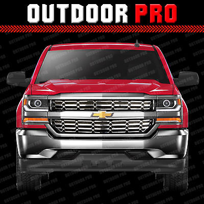 2016-2018 Chevy Silverado 1500 Grill Overlay Cover Inserts CHROME Grille Snap on