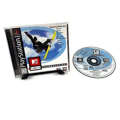 MTV Sports: Snowboarding (PlayStation 1, 1999) PS1 Tested Free Shipping Complete