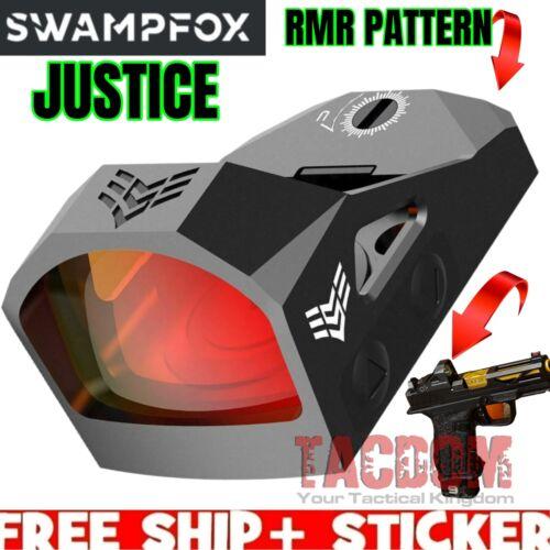 SwampFox Optics Justice 1x27 3 MOA MICRO REFLEX WCover For RMR PATTERN CUT Slide