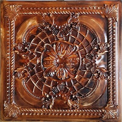 Ceiling tiles Faux tin oil painting wood decor saloon wall panel PL31 10pcs/lot