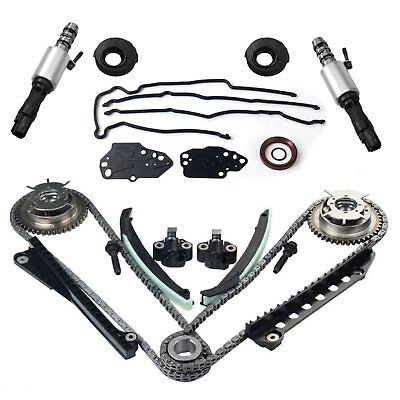 Ford F150 Timing Cover (For 5.4 Ford F150 F250 Lincoln 3V Timing Chain Kit Cam Phaser Timing+cover Seal )
