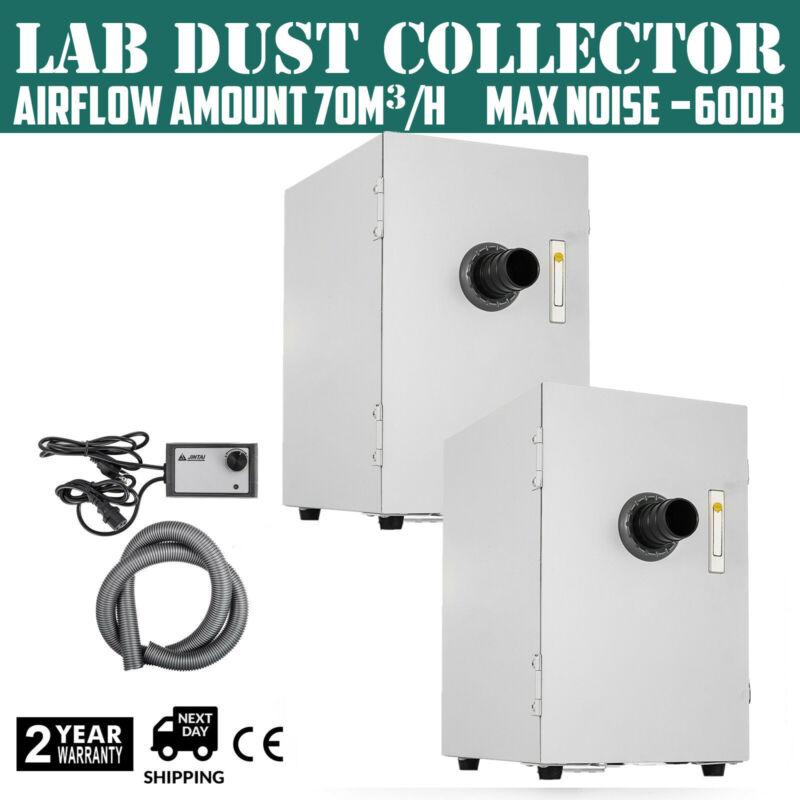 2pcs Dental Lab Dust Collector Vacuum Cleaner for Sandblasters 110v USA SHIP