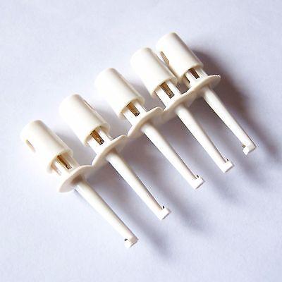 20 Pcs Mini Test Clip Grabber White Smd Ic Hook Probe For Multimeter Jumper P59