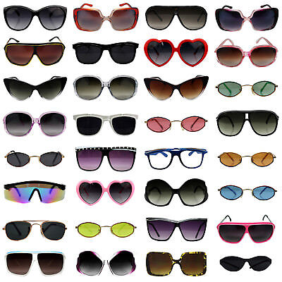 Bulk Wholesale Sunglasses Lot of 10 to 150 Pairs Assorted Styles Men Women Kids - Wholesale Shades