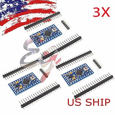 3x Arduino Pro Mini Board Free With Headers Atmega328p 16mhz 5v Atmega328