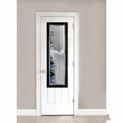 Over the Door Full Length Mirror, Black