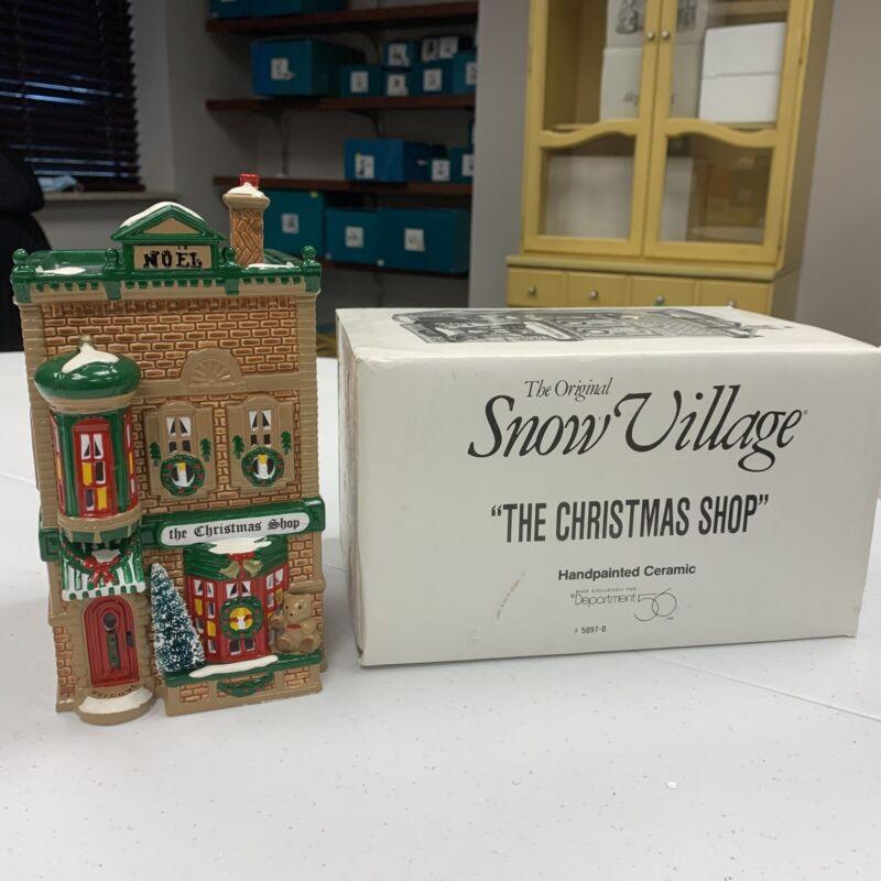 Dept 56 The Original Snow Village 1991 The Christmas Shop 50970 Retired W/ Box