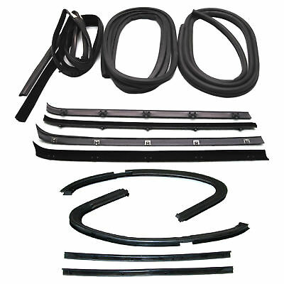New Set of 12 Door Weatherstrip Rubber Seal Kit for Chevy C20 Suburban 1973-1980 ()