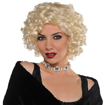 Damen Roaring 20s Gatsby Roxy Daisy Flapper Blonde Perücke Kostüm Zubehör