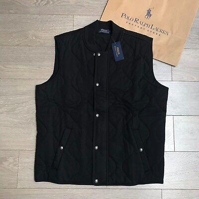 Ralph Lauren Quilted Bodywarmer Size XXL RRP €299 BLACK Vest 100% Genuine BNWT