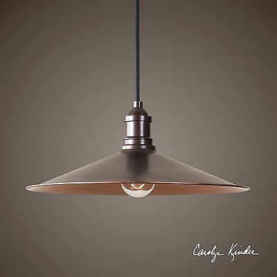 URBAN INDUSTRIAL INSPIRED AGED COPPER FINISH PENDANT LIGHT CHANDELIER UTTERMOST Aged Golden Copper Finish