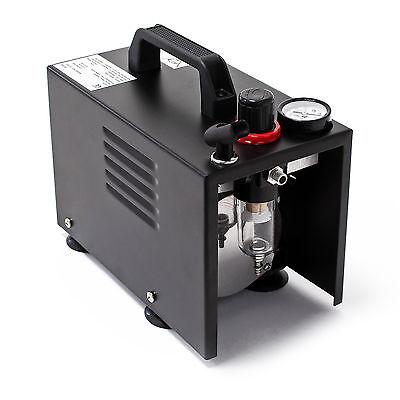 Airbrush Kompressor AF18B kompakt Manometer Druckminderer Abschaltautomatik