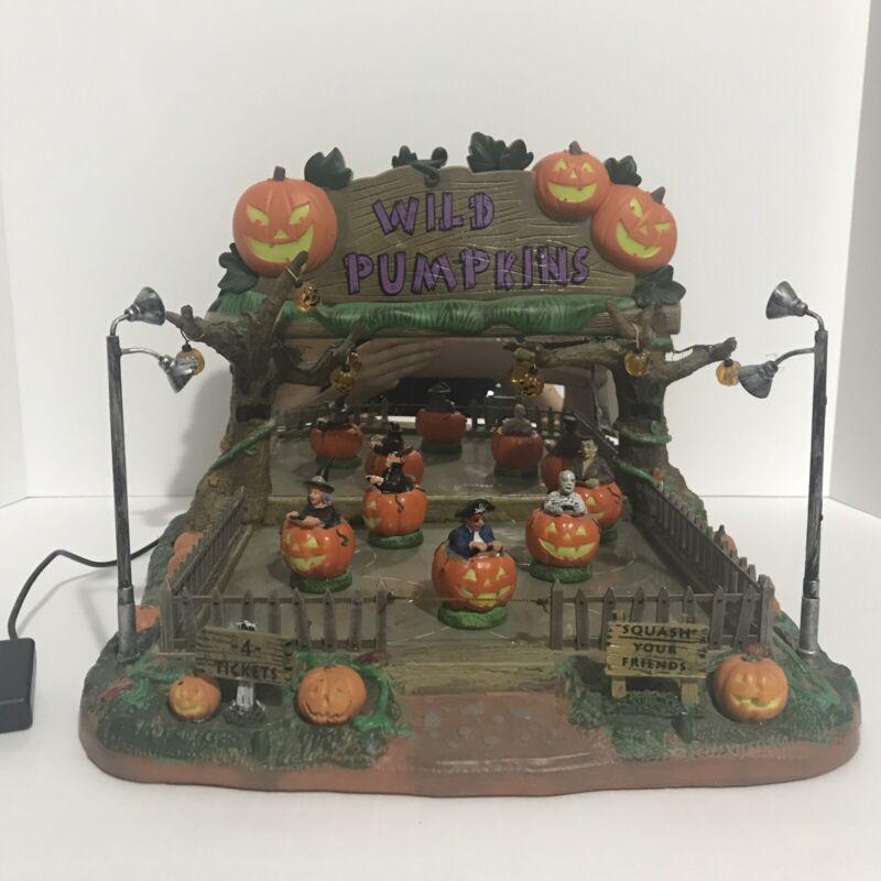 2009 Lemax Spooky Town Wild Pumpkin Ride Retired #94958