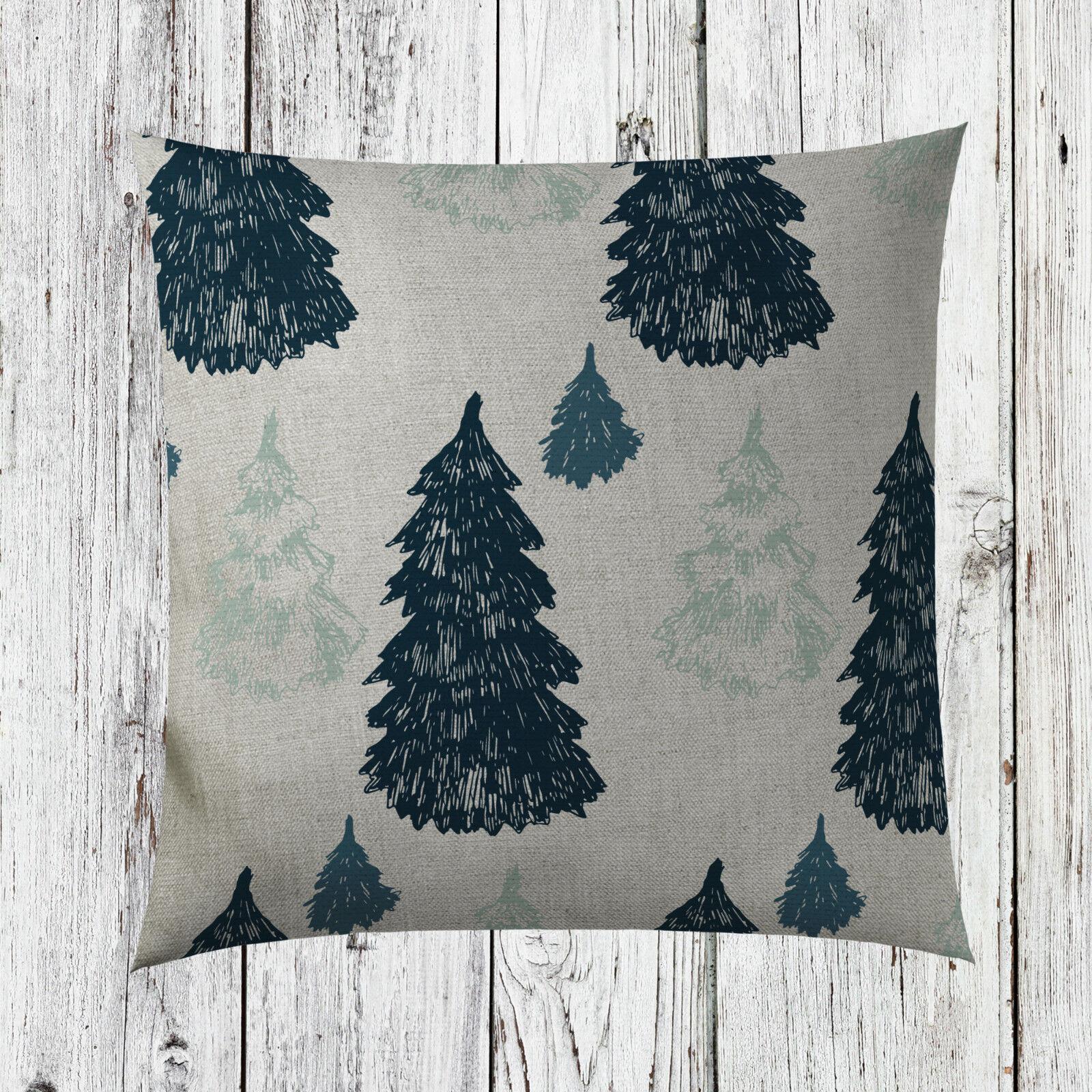 Teal Green Blue Christmas Tree Cushion Cover Pillow Insert Noel Home Decor St50 Ebay