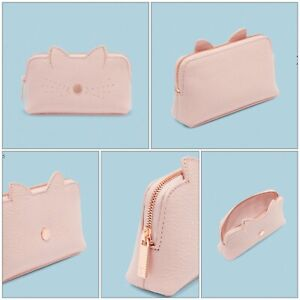 Ted Baker - OOHAN Cat whiskers leather mini make up bag