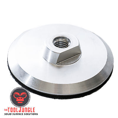 4 Inch Aluminum Backer Pad 58-11 Thread For Diamond Polishing Pads