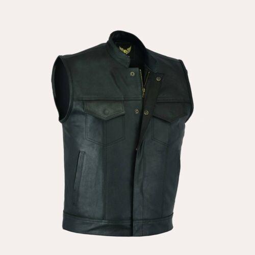 Leatherick+Men%27s+Sons+of+Anarchy+Leather+Vest+Black+L