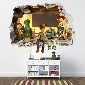 Http Www Ebay Co Uk Itm Toy Story Smashed Wall Sticker Bedroom Boys Disney Vinyl Wall Art 252064916849