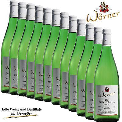 (4,17€/l) Müller-Thurgau trocken 12 Fl. WEINGUT WÖRNER Wein Weißwein Pfalz