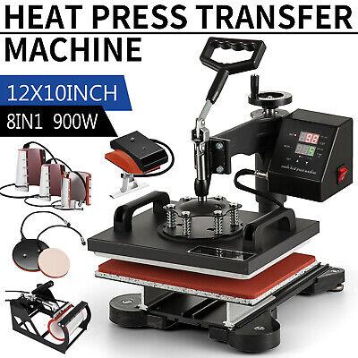 8 In 1 Heat Press Machine Digital Sublimation For T-shirt Mug Plate Hat Printer