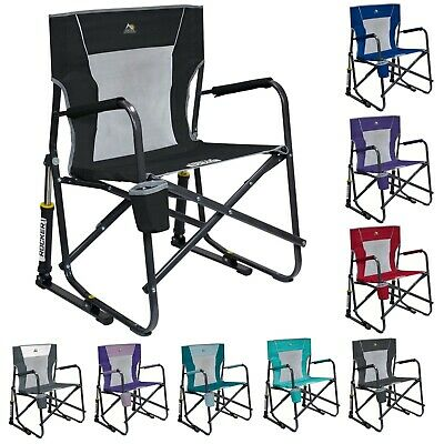 GCI Outdoor Freestyle Rocker Mesh Chair Folding Portable Camping Cup Holder