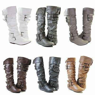 Women Riding Boots Slouch Manmade Leather Sexy Stylish Shoes Fashion Knee High