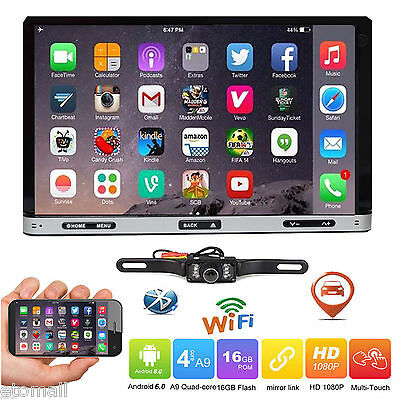 """7"""" Smart Android 6.0 4G WiFi Double 2DIN Car Radio Stereo DVD Player GPS+Camera"""