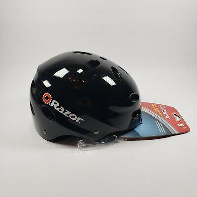 Razor V17 Youth Skateboard/Scooter/Bike Sport Helmet, Glossy Black New