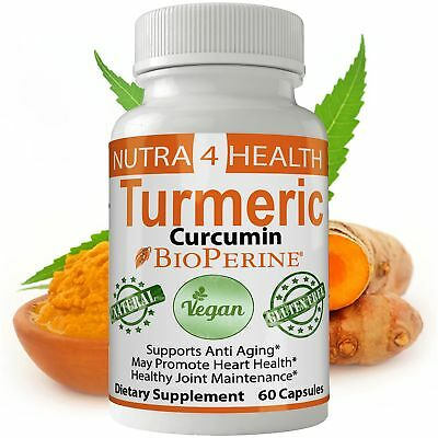 Turmeric Curcumin Supplement | Tumeric Powder Extract Contains 95% Curcuminoi...