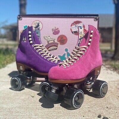 Moxi Lolly Custom Roller Skates Fuchsia Pink x Taffy Purple – Size 7 (w8-8.5)