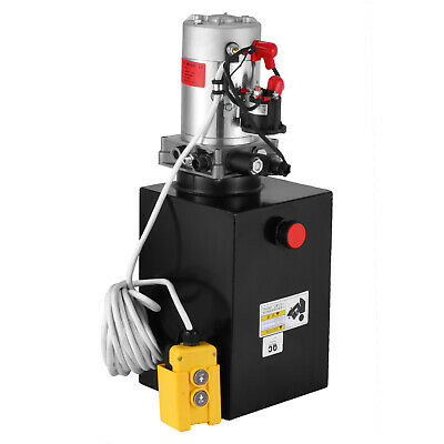 New Single Acting Hydraulic Pump 12v Dump Trailer - 12 Quart